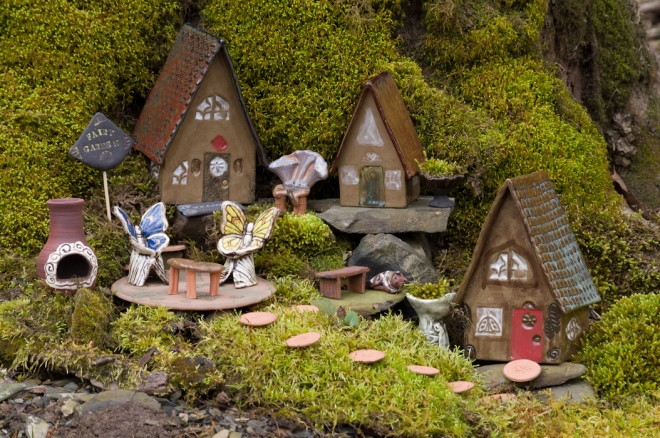 Fairy Garden at base of a tree...