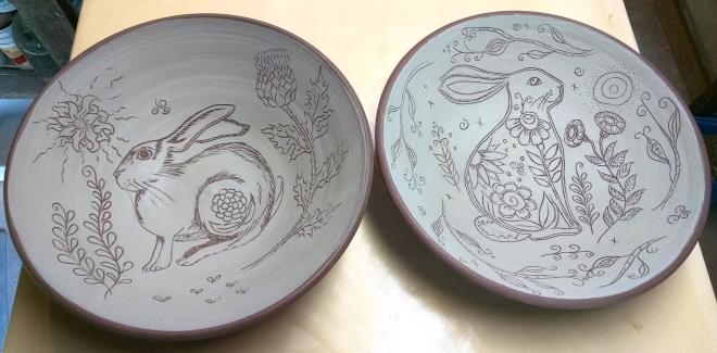 Two Rabbit Pasta Bowls
